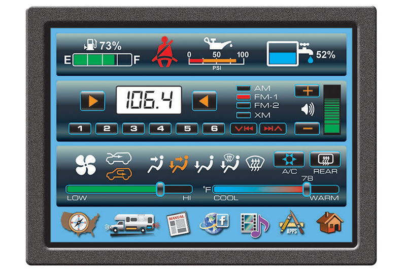 Vehicle LCD control panel
